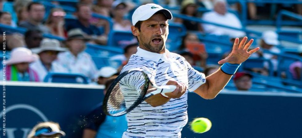Novak Djokovic suffered his second straight loss to Daniil Medvedev after losing 3-6,6-3,6-3 in the ATP Cincinnati Masters. (Image credit: Twitter)