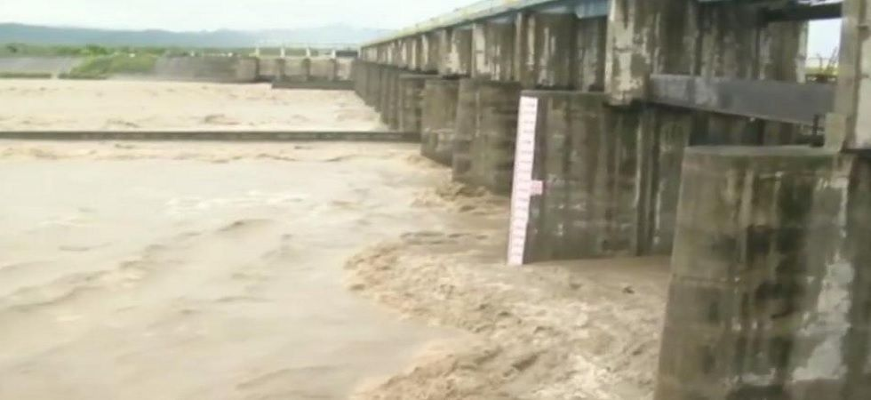 The water level in the Yamuna River stood at 203.07 meters on Sunday. (ANI Photo)
