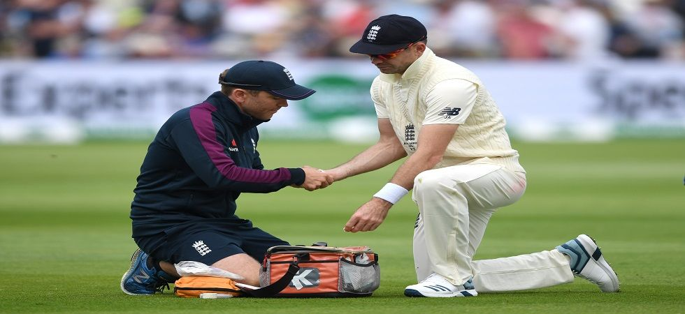 James Anderson missed the Lord's Test against Australia due to a calf injury he sustained in the Edgbaston match. (Image credit: Getty Images)