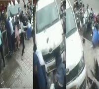 Drunk driver rams into pedestrians outside Bengaluru hotel, CCTV captures shocking visuals