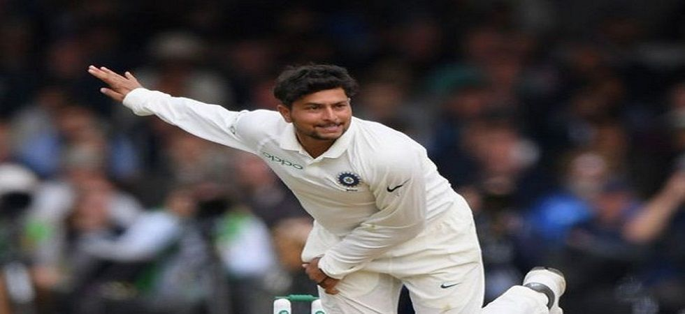 Kuldeep Yadav picked up three wickets as he staked his claim to be in the playing XI for the first Test against West Indies in Antigua. (Image credit: Twitter)