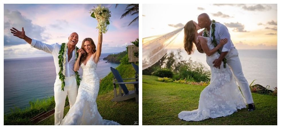 Dwayne Johnson and Lauren Hashian are finally married! (Photo: Instagram)