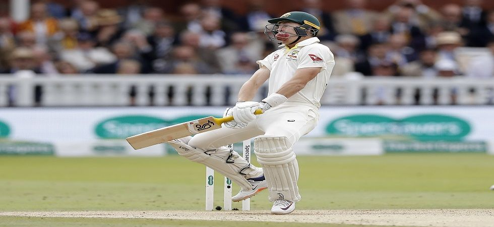 Marnus Labuschagne was hit on the helmet first ball by Jofra Archer but he hit a fifty to help Australia draw the Lord's Test against England. (Image credit: Getty Images)
