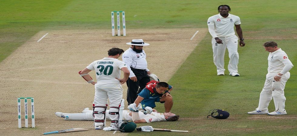 The body blow forced Smith to retire hurt while batting at 80