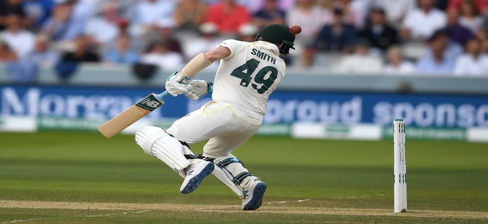 Steve Smith was withdrawn from the Lord's Test after suffering a blow to the side of the neck by a Jofra Archer bouncer. (Image credit: Getty Images)