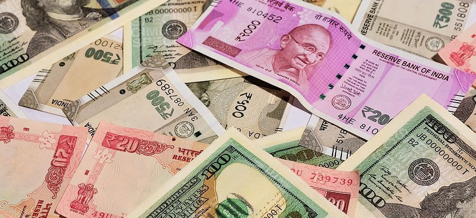 The rupee opened on a weak note and fell 23 paise to 71.66 against the US dollar in early trade on Tuesday