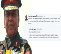 '99% of my friends are Hindu, Sikh and Christian': Army veteran Lt Gen Hasnain silences Pakistani troll