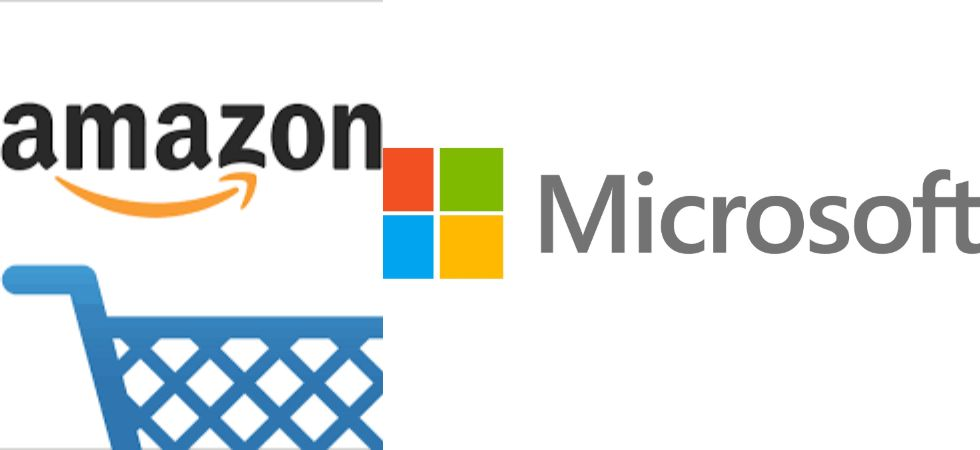 Amazon & Microsoft (Photo Credit: Twitter)