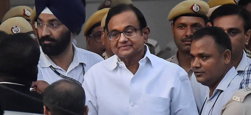 P Chidambaram being taken out of the court (Image: PTI)