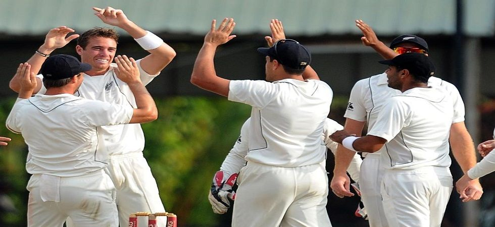 Tim Southee and Trent Boult took two wickets apiece as New Zealand dominated a rain-truncated second day of the second Test at the P Sara Oval. (Image credit: Twitter)
