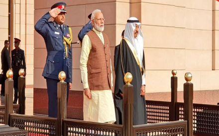 PM Narendra Modi holds talks with his Bahraini counterpart