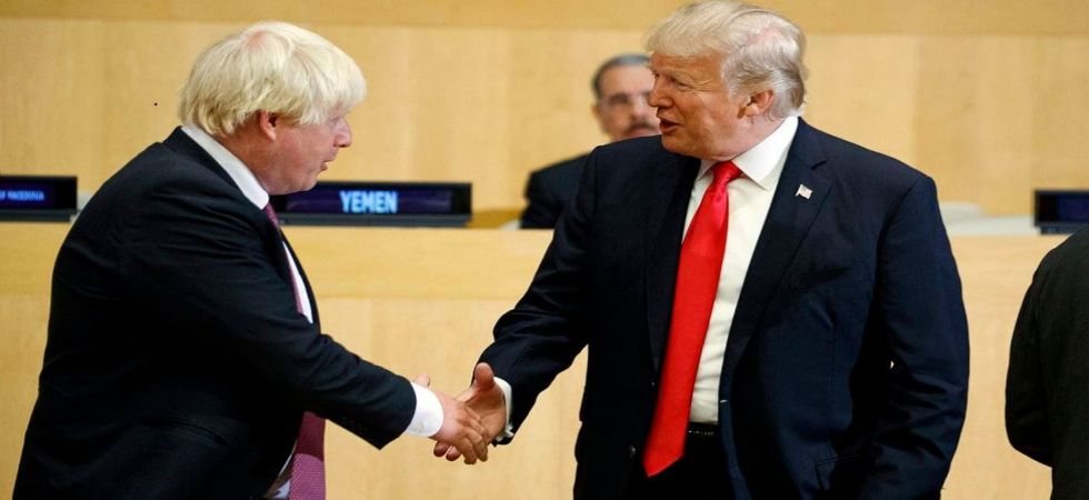 British Prime Minister Boris Johnson with US President Donald Trump (File Photo)