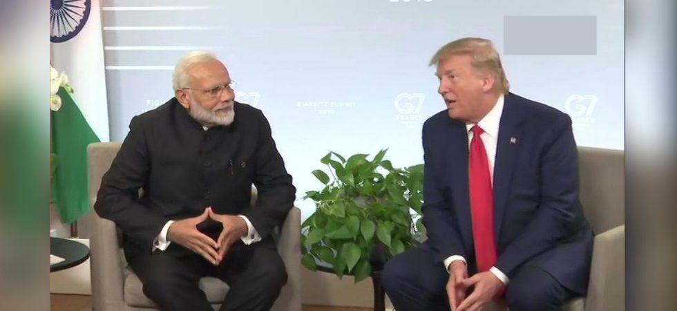 PM Modi meets US President Donald Trump at G7 Summit.