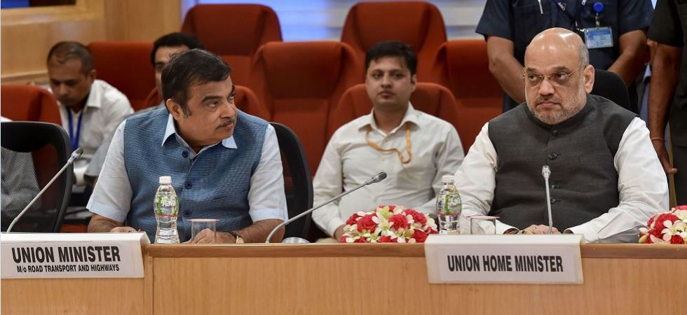 Amit Shah and Nitin Gadkari during meeting with CMs of Maoism-affected states (File Photo)
