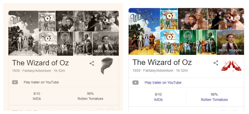 Google celebrates 'The Wizard of Oz' 80th anniversary (Photo: Google)