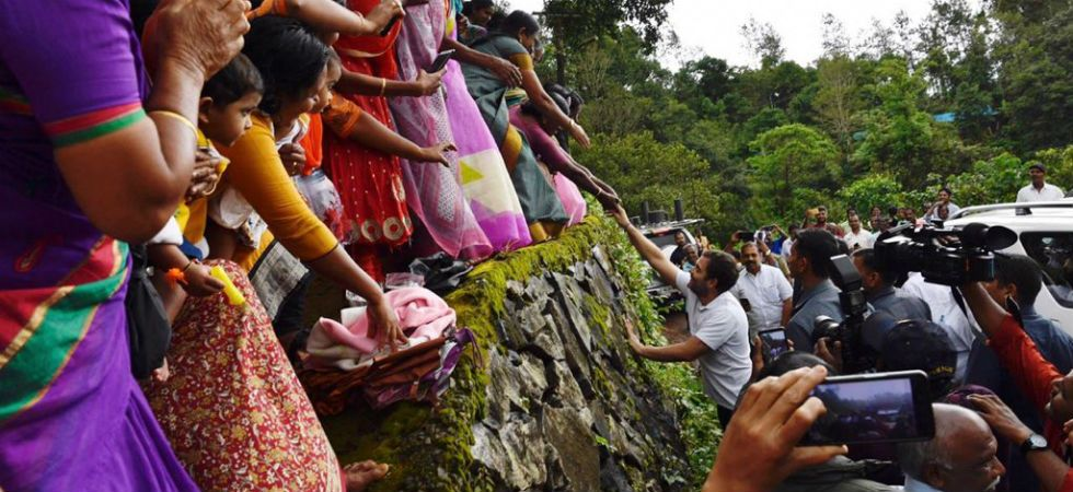 Rahul Gandhi greeting people in Wayanad (Image: Twitter)