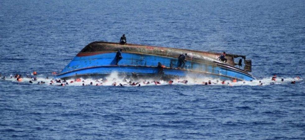 Libya boat capsized (Photo Credit: Twitter)