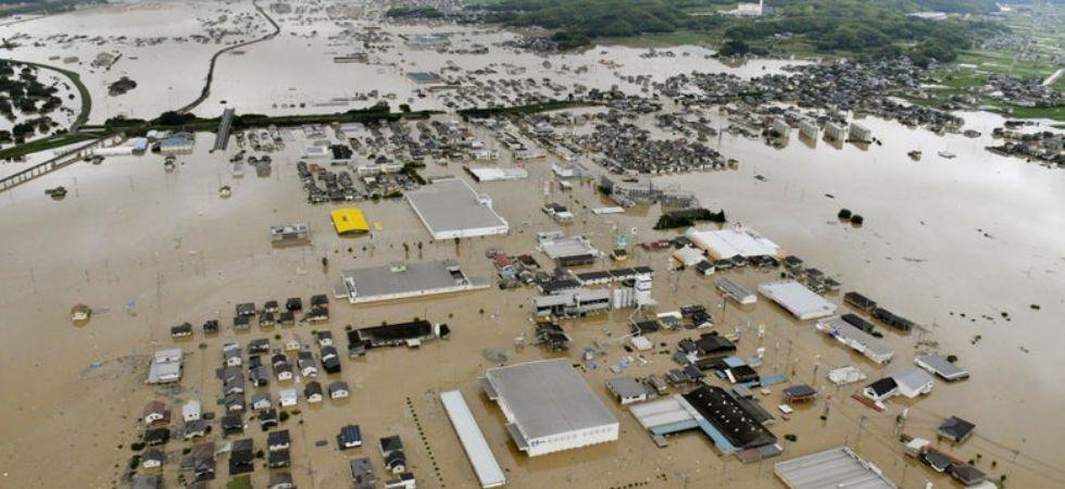 Japan floods (Photo Credit: Twitter)