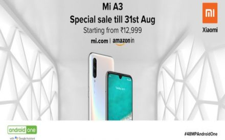 Xiaomi Mi A3 goes on OPEN SALE in India through online