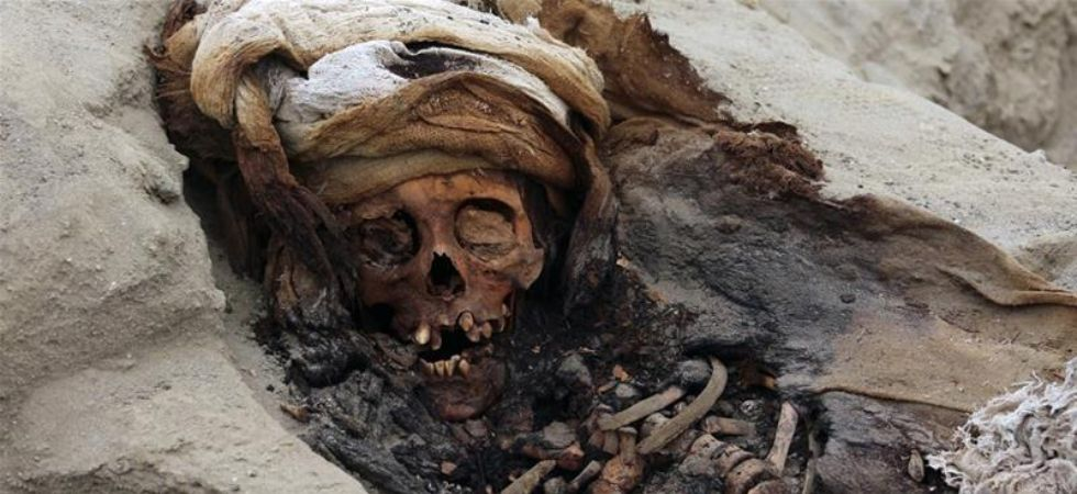 The children's remains were found in a position facing the sea. Some still had skin and hair. (Photo credit: Twitter)