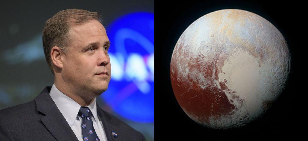 NASA chief Jim Bridenstine & Pluto (Photo Credit: NASA)