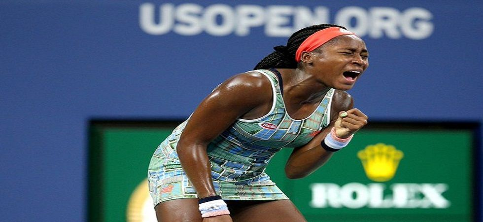 Coco Gauff became the youngest player in the last 32 at a US Open since Anna Kournikova in 1996. (Image credit: Twitter)