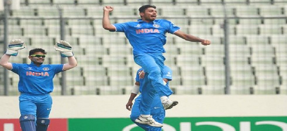 Avesh Khan hit 64 off 56 balls and the knock included seven sixes as India Red entered the final of the Duleep Trophy where they will face India Green. (Image credit: Twitter)