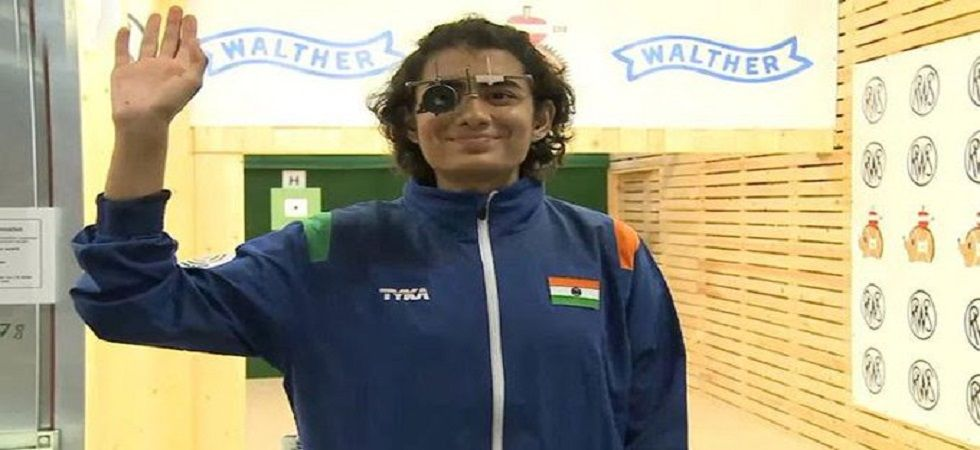Yashaswini Singh Deswal secured India's ninth Olympic quota in style, upstaging the women's 10m air pistol's numero uno shooter Olena Kostevych of Ukraine for a gold. (Image credit: Twitter)