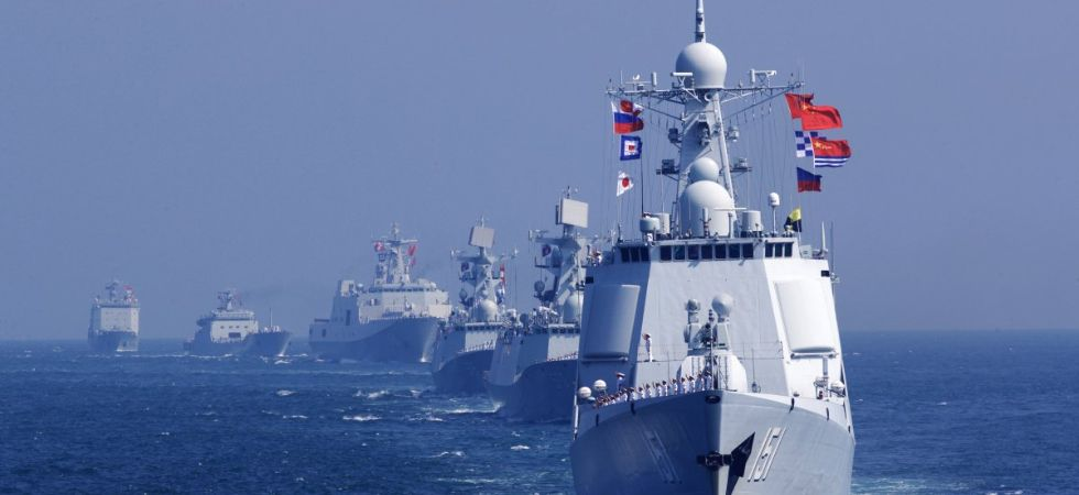 File photo of Chinese warships during a joint exercise with the Russian Navy. (Photo Courtesy: Xinhua)