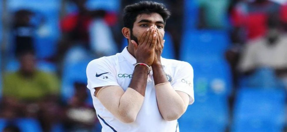 Jasprit Bumrah became the third Indian bowler to take a hat-trick in Tests during the Jamaica Test. (Image credit: Twitter)