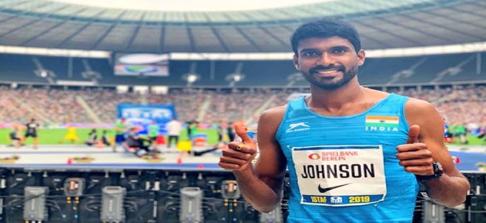 Jinson Johnson clocked 3 minute 35.24 seconds to finish second behind Joshua Thompson of United States at the Olympic Stadium. (Image credit: Twitter)