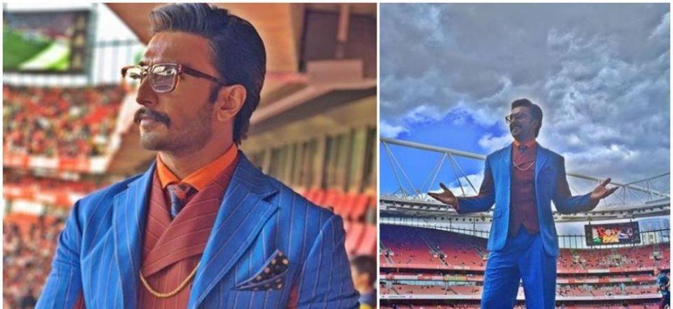 Ranveer Singh at the Emirates Stadium. (Image: Instagram)