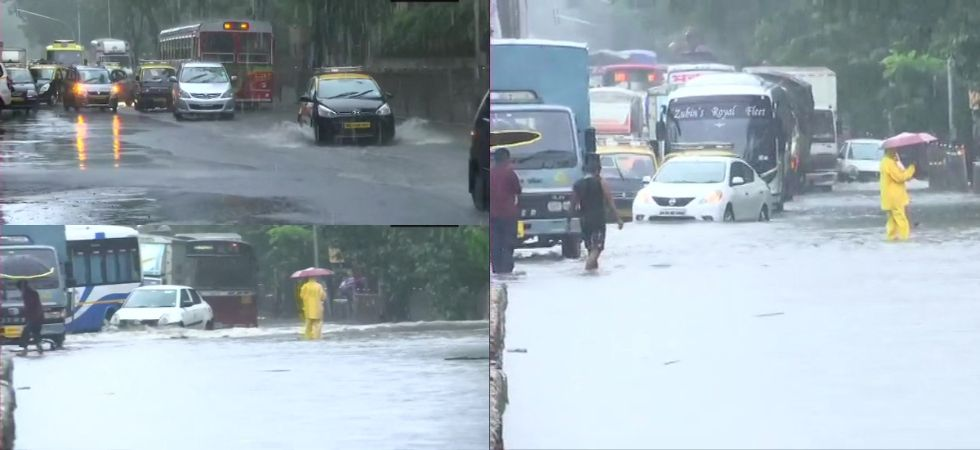 Mumbai Rains (Photo Credit: Twitter/@ANI)