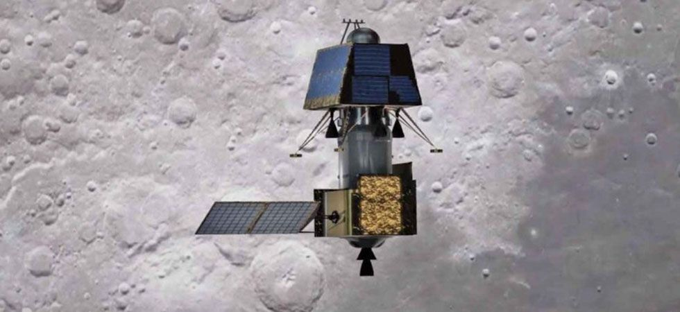 Vikram, the lander module of Chandrayaan-2, which has already detached itself from the main spacecraft will select its soft-landing site tonight. (Photo credit: IANS)