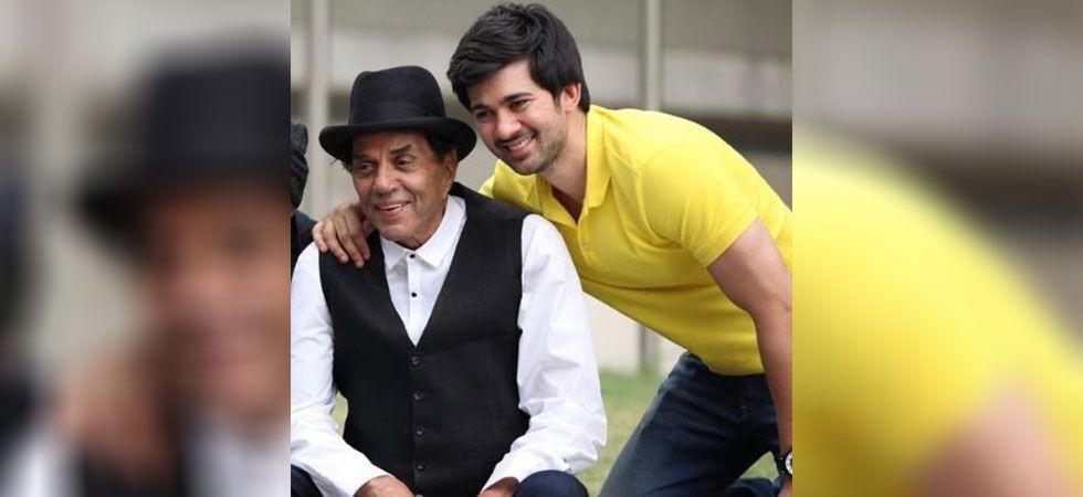 Karan Deol with Dharmendra.