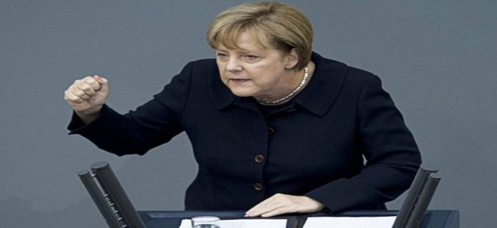 Merkel is scheduled to give a speech to university students in Wuhan on Saturday. (Twitter)