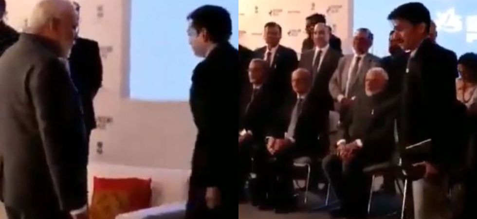 PM Narendra Modi opted for a chair instead of special sofa