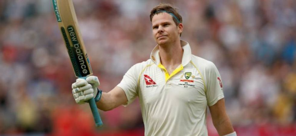 Steve Smith raises his bat after century (Image: PTI)