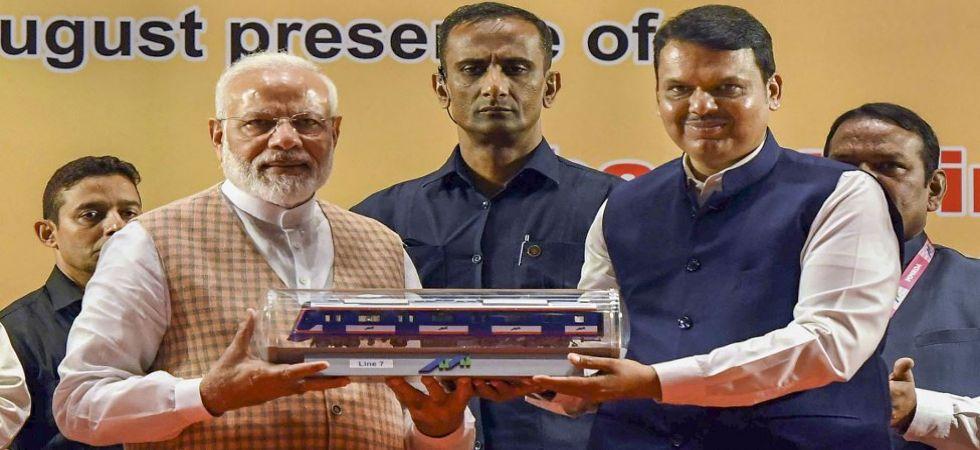 Prime Minister Narendra Modi with Maharashtra Chief Minister Devendra Fadnavis (Photo Source: PTI)