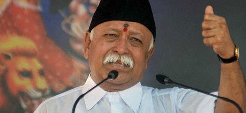 RSS chief Mohan Bhagwat was returning after attending a program in Alwar when the accident happened. (File Photo/PTI)
