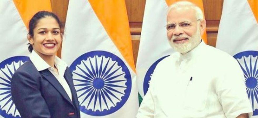 Babita Phogat with PM Narendra Modi (Image: Instagram @babitaphogatofficial)
