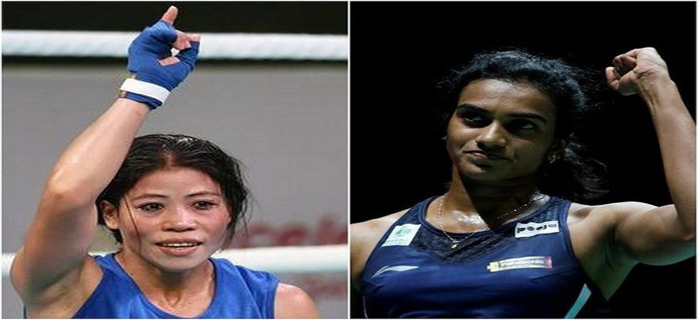 PV Sindhu became the first Indian shuttler to win gold in the Badminton World Championship while MC Mary Kom is the six-time world boxing champion. (Image credit: Twitter)