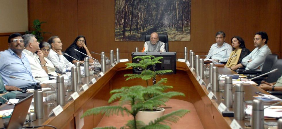 Baijal was chairing the 10th meeting of 'Task Force on Women Safety' at Raj Niwas in New Delhi. (Photo: Twitter/@LtGovDelhi)