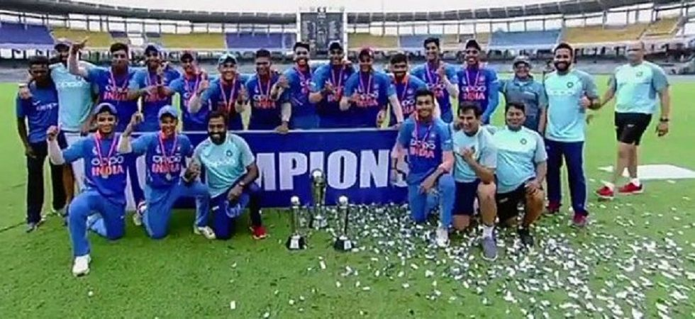 Atharva Ankolekar took 5/28 as India managed to defend 106 and win the Asia Cup Under-19 competition by five runs. (Image credit: Twitter)