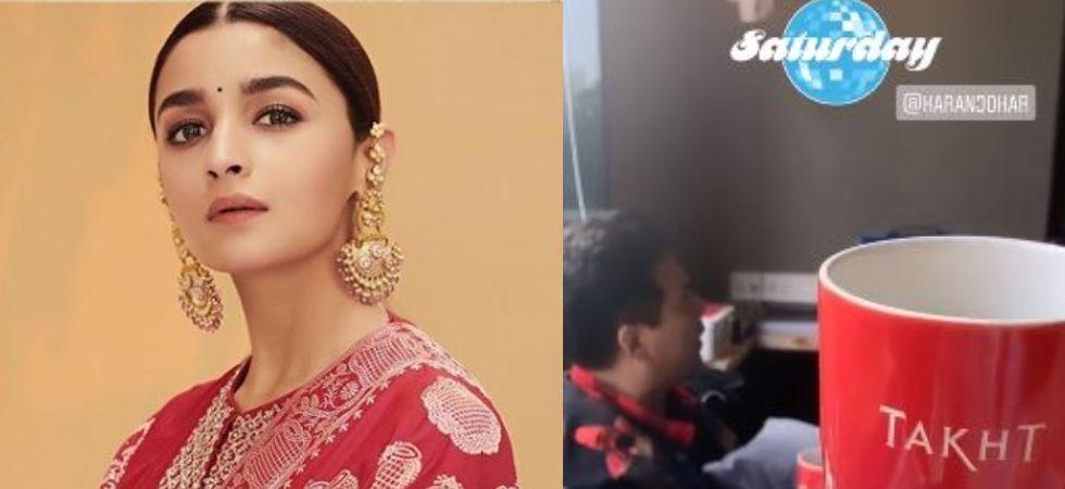 Alia Bhatt Gears Up For 'Takht' With Karan Johar, Shares On Instagram