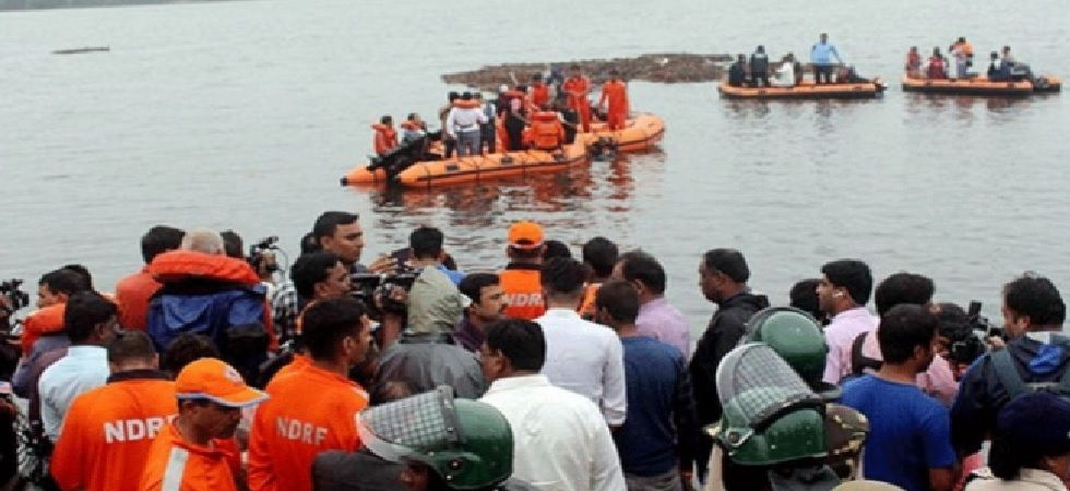 Two teams of National Disaster Response Force (NDRF) rushed to the spot to carry out rescue operations. (Photo: Twitter/ANI)