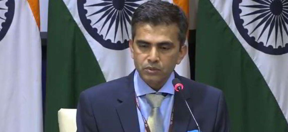 Ministry of External Affairs Spokesperson Raveesh Kumar. (Image credit: ANI)