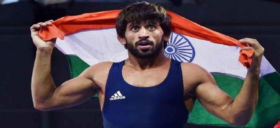 Bajrang Punia's bout with Daulet Niyazbekov ended 9-9 but the Kazakh wrestler was declared the winner as he was given a bigger throw of four points in the bout. (Image credit: Twitter)