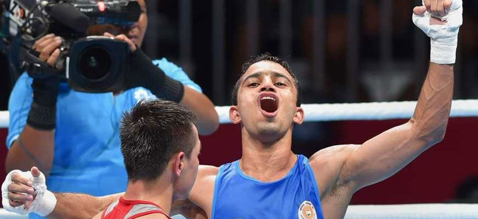 Amit Panghal beat Kazakhstan's Saken Bibossinov to reach the World Boxing Championship final. (Photo: File/PTI)
