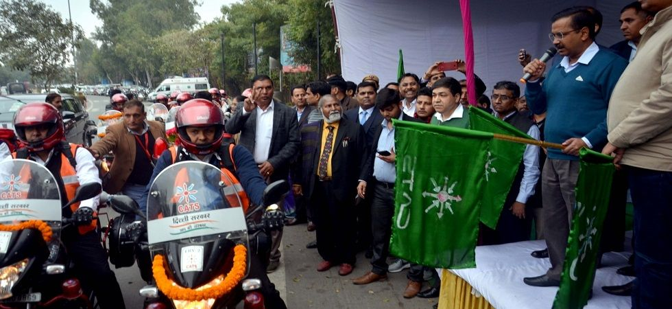 The AAP government had in February flagged off 16 bike ambulances. (Image Credit: IANS)